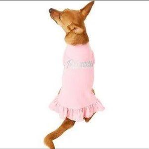 NEW Princess Pink Ruffle Dog T Shirt XS